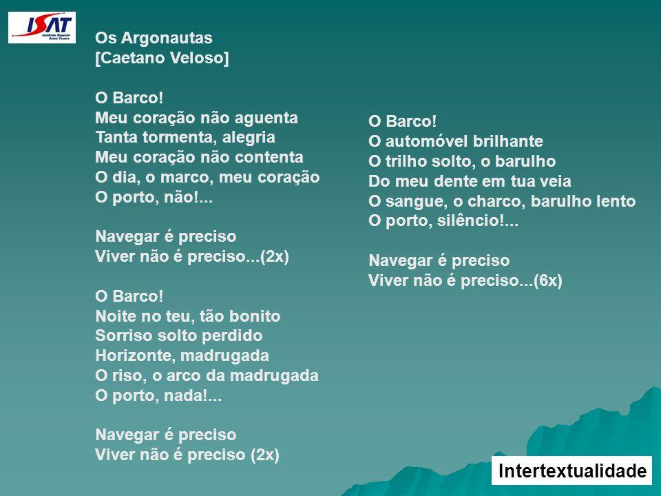 Intertextualidade Os Argonautas [Caetano Veloso]